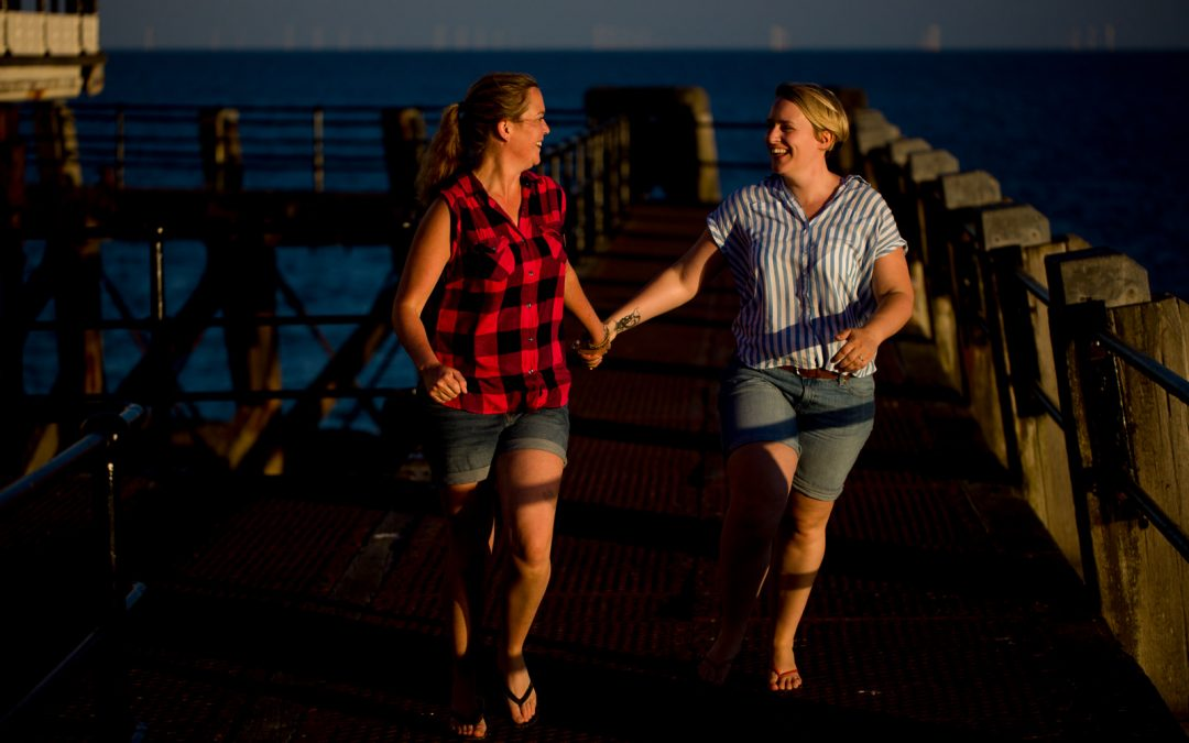 Worthing Pier Engagement | Charlie and Sarah